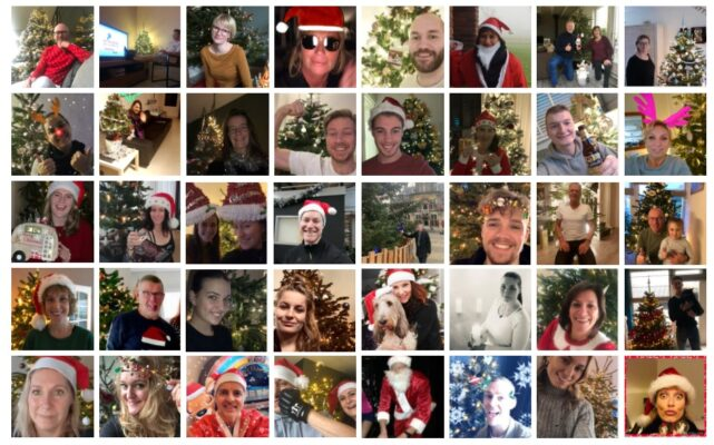 Viergang gehele team kerst